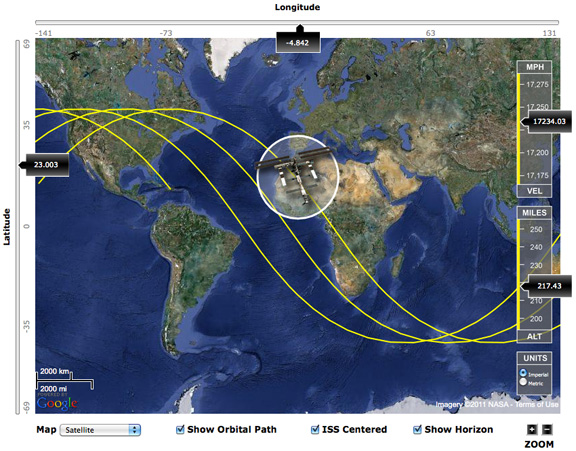 JBird Creations | International Space Station (ISS) Tracker